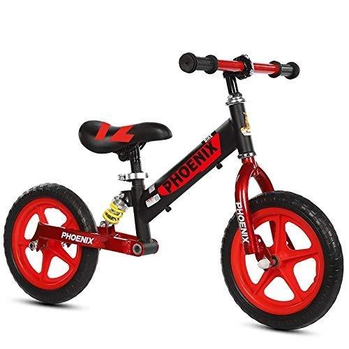 バランスバイク、ペダルなし軽量ファーストバイク - 3歳用10インチEVAタイヤ、ブラック/ブルー/ピンク/イエロー、ランニングウォーキングバイク、調節可能なハンドルバーおよびシート ZHAOFENGMING (Color : Black, Size : 10 Inch) B07TDLJXNJ Black 10 Inch
