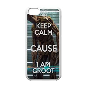 iPhone 5c Cell Phone Case White Keep Calm Cause Im Groot Gyzgj