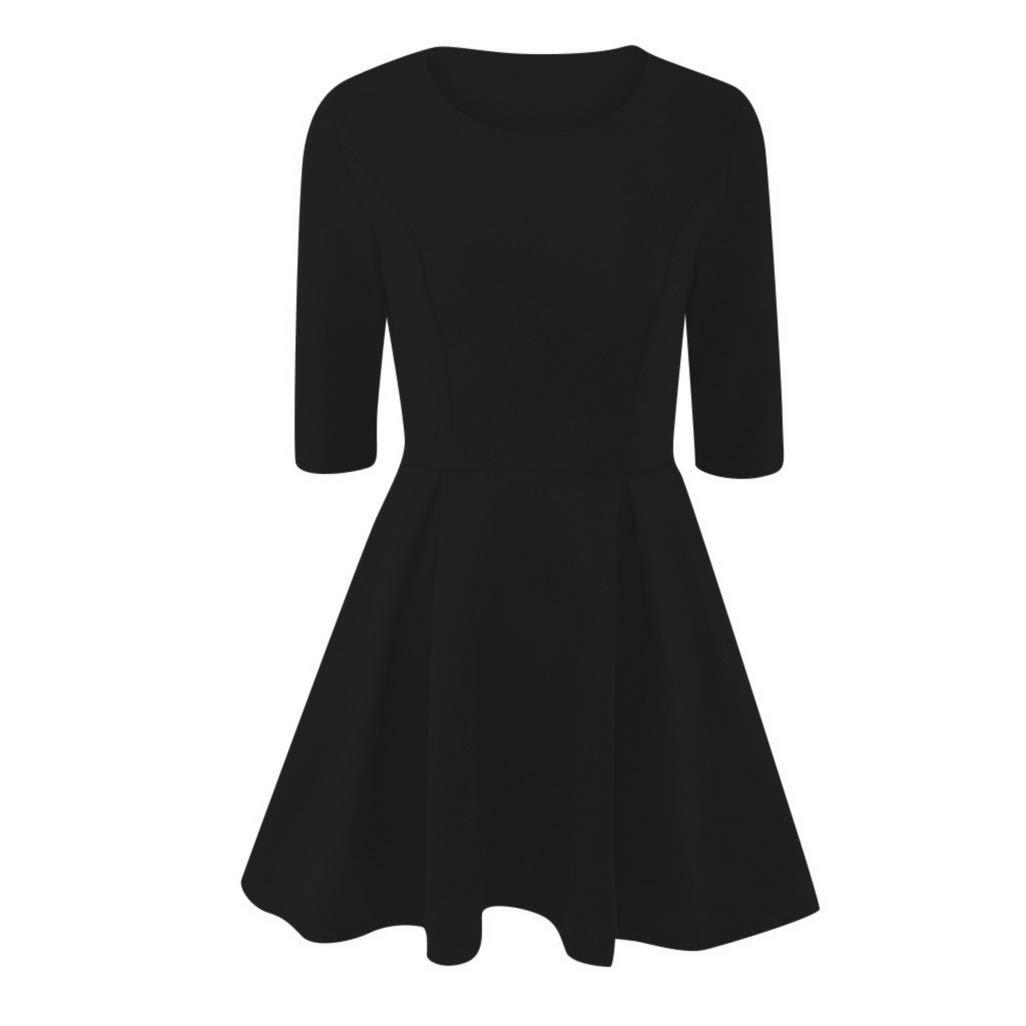 Women Half Sleeve O Neck Large Pleated Wavy Slim Mini Dress Elegant Ladies Evening Party Dresses Vestidos