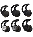 ALXCD Ear Tips for Bose SoundSport Free Headphone, S/M/L 3 Pair Replacement Soft Silicone Earbud Tips, Fit for Bose Quietcontrol 30 QC30 Sound Sport Free Headphone(Black