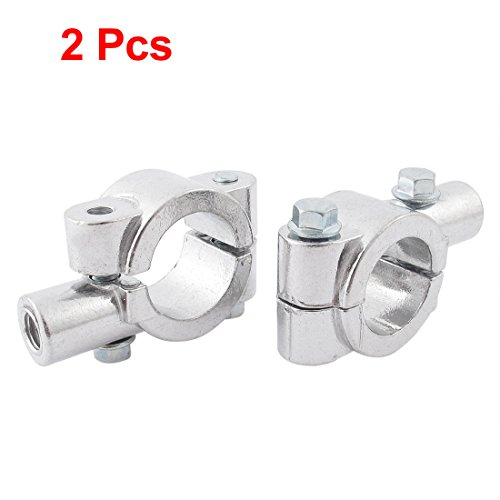 uxcell 2 Pcs Motorcycle Handlebar Mirror Mount Holders