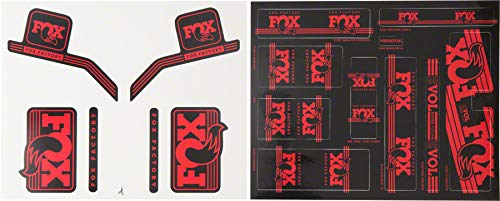 Fox Heritage Decal Kit for Forks and Shocks Red