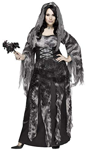 Dead Gangster Halloween Costumes (Fun World Women's Plus Size Cemetery Bride Costume, Multi,)