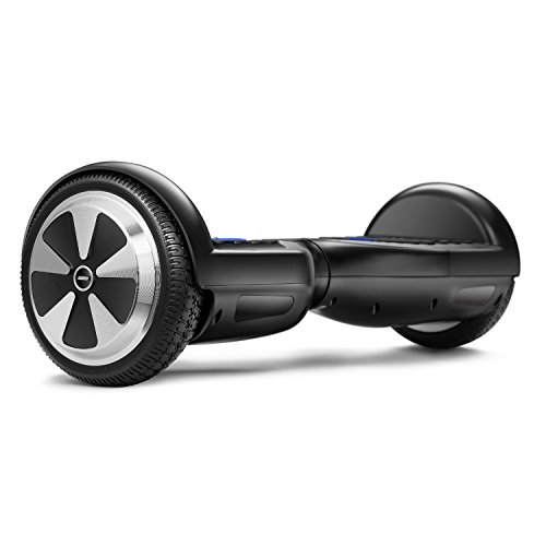Eyourlife UL 2272 Certified Kids Hoverboard With LED Light - 6.5' Electric Self Balancing Scooter,FireSafe Battery,Overspeed Alarm,Commercial Liability Insurance Black