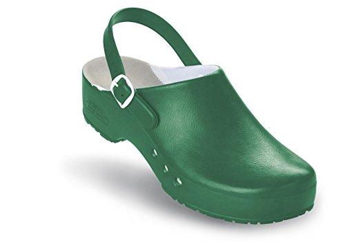 Schürr Chiroclogs Professional OP-Schuh Unisex mit und ohne Fersenriemen Grün mit Fersenriemen