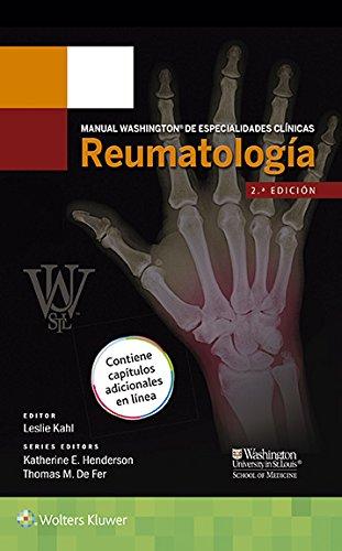Descargar Libro Manual Washington De Especialidades Clínicas. Reumatología Leslie Kahl