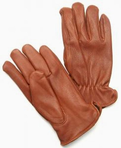 Napa Deerskin Leather Driver Gloves (Brown, X-Small)