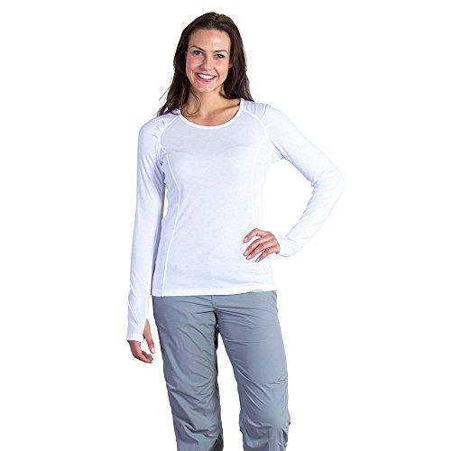 ExOfficio Women's BugsAway Lm Long Sleeve, White, -