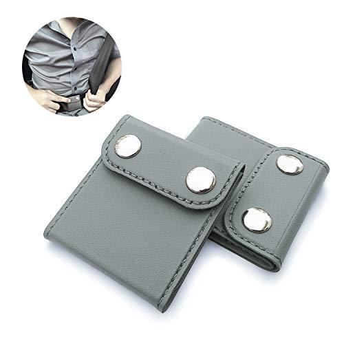 Seatbelt Adjuster, ILIVABLE Auto Shoulder/Neck Protector Locking Clip Cover, Vehicle Seat Belt Positioner (2 Pack Grey)