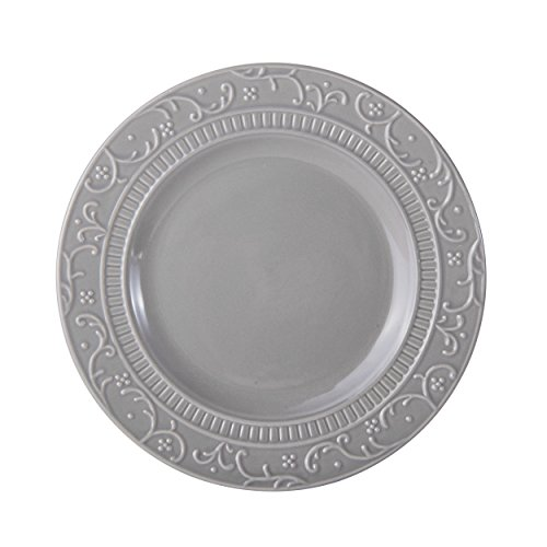 Mikasa Italian Countryside Accents Salad Plate, Scroll Grey