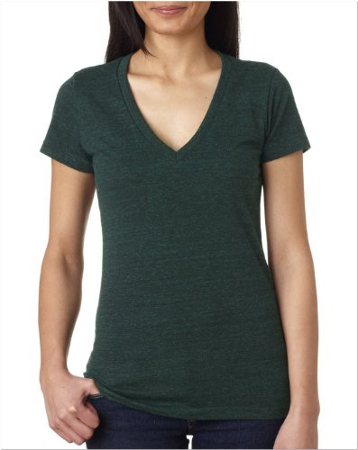 Bella B8435 TriBlend Deep Vee Tee - Emerald Heather - ()