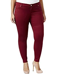Womens Denim Colored Skinny Jeans
