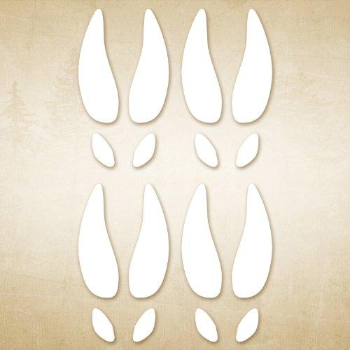 (Mossy Oak Graphics 13041 White 'Deer Tracks')