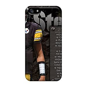 Scratch Protection Hard Phone Case For Iphone 5/5s (VXG9234WAzT) Unique Design Stylish Pittsburgh Steelers Pictures