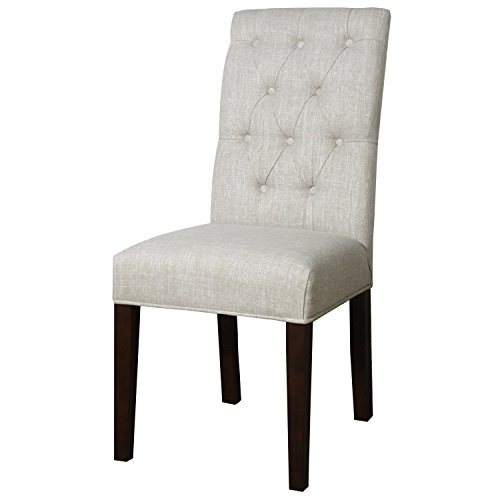 New Pacific Direct Gwendoline Fabric Tufted Side Chair,Pecan Brown Legs,Rice Beige,Fully Assembled,Set of 2 Review
