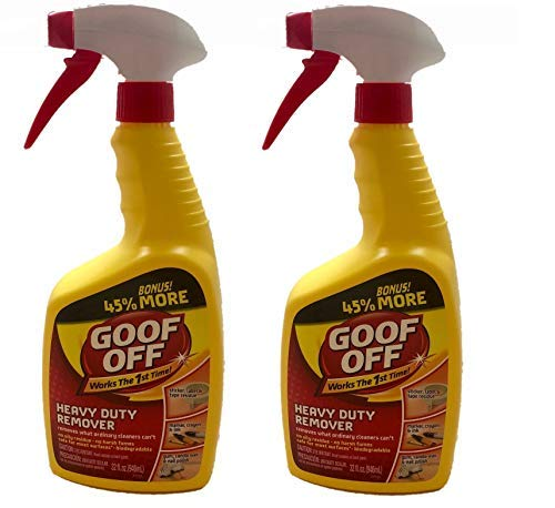 Goof Off FG720 Heavy Duty Spot Remover and Degreaser, Trigger Spray (2, 32 Ounce) ()