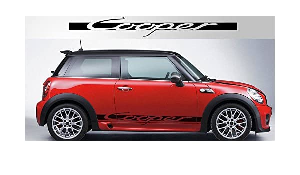 MINI COOPER RED AND BLACK CHECKERED FLAG  CAR AUTO DOOR SCRATCH GUARD PROTECTOR