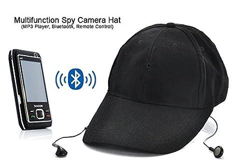 Sombrero Gorro con cámara espía y DVR Bluetooth MP3: Amazon.es: Electrónica