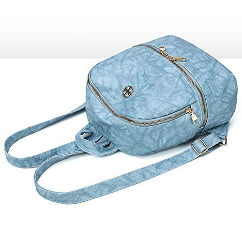 Casual Blue Pink Piccola Donna Da Zaino In Selvaggia Pelle Morbida Zaino Ragazza Pelle Borsa Moda All'usura PU SHMILY In Resistente aUq1wWwFH