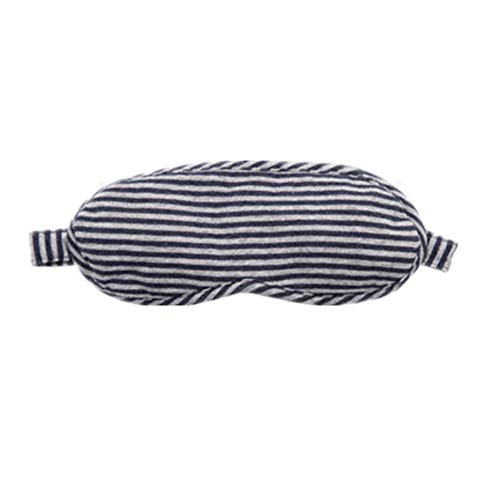 (Sleep Mask Striped Knit Cotton With Adjustable Shoulder Straps And Carrying Pouch Profile And Lightweight Comfort Eye Mask For Men And Women Travel, Contoured Blindfolds And Eye Masks for Sleeping, Sh)