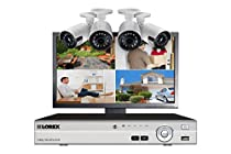 Lorex Home security system with 4-channel DVR, 4 HD wide angle cameras and LED monitor
