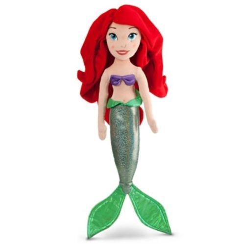 Official Disney Exclusive The Little Mermaid 3 pcs Plush set : Ariel 21'', Flounder 10'', Sebastian 8'' the crab. by Dismey