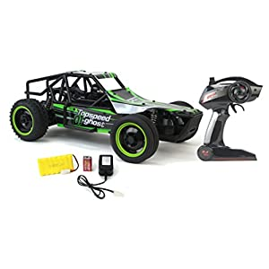 Gallop Ghost Top Speed Remote Control 2.4 GHz RC Green Toy Buggy Car 1:10 Scale Size Ready To Run w/ Working Suspension, Spring Shock Absorbers
