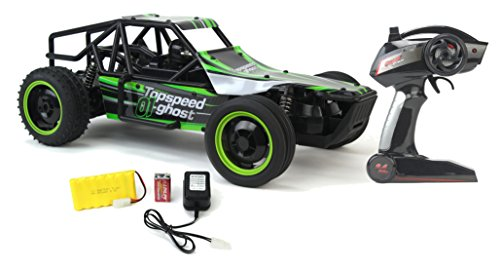 Gallop Ghost Top Speed Remote Control 2.4 GHz RC Green Toy Buggy Car 1:10 Scale Size Ready To Run w/ Working Suspension, Spring Shock Absorbers (10 Scale Remote Control)
