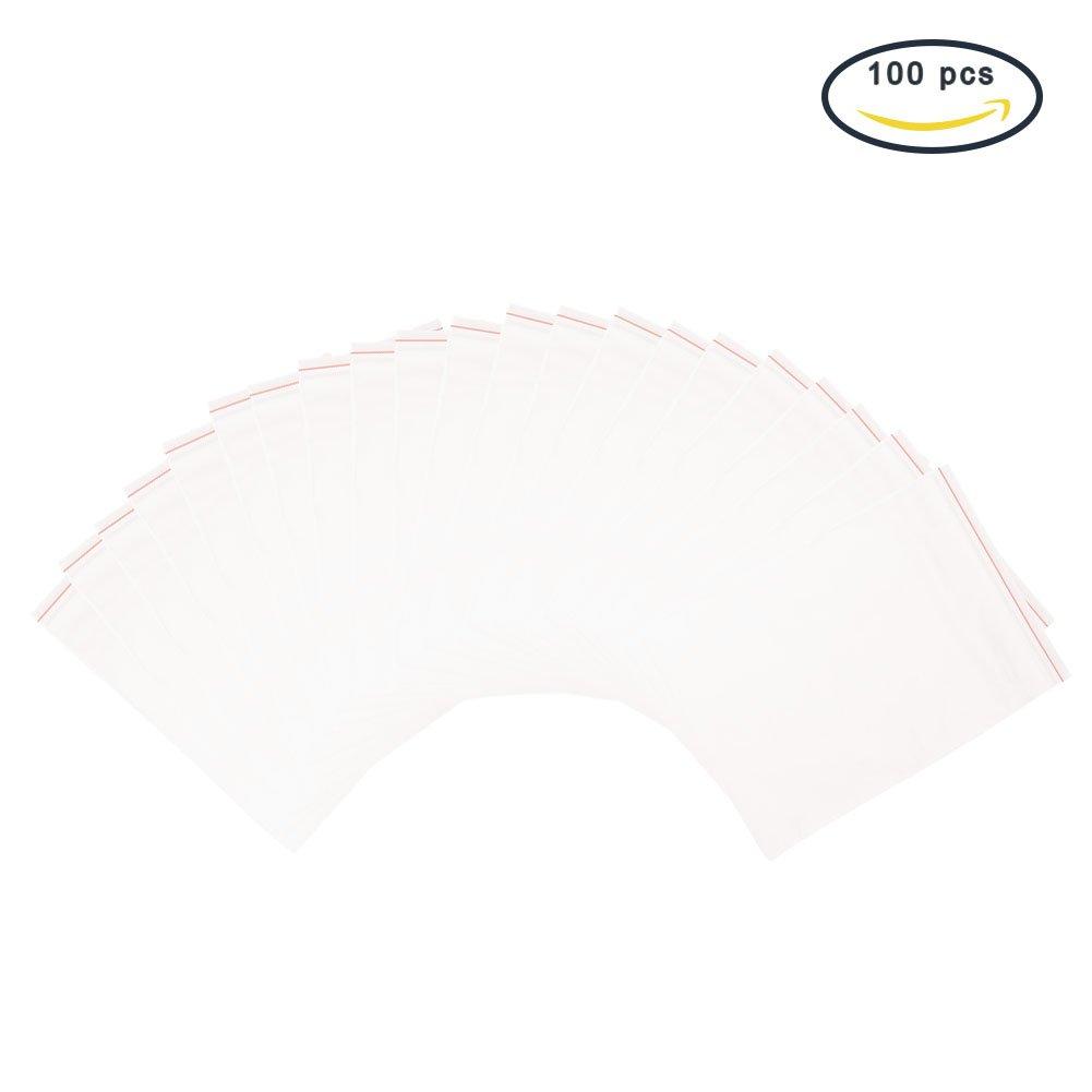 Pandahall–Packung mit 500 Kunststoff- Beuteln mit Zip-Verschluss, transparent, 8x 12cm, Dicke: 0,04mm, 4x6cm 8 x 12 cm 04 mm