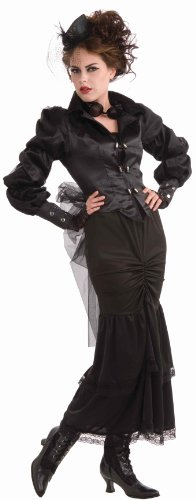 [Woman's Steampunk Victorian Lady Costume, Black, One Size] (Lady In Black Costume)