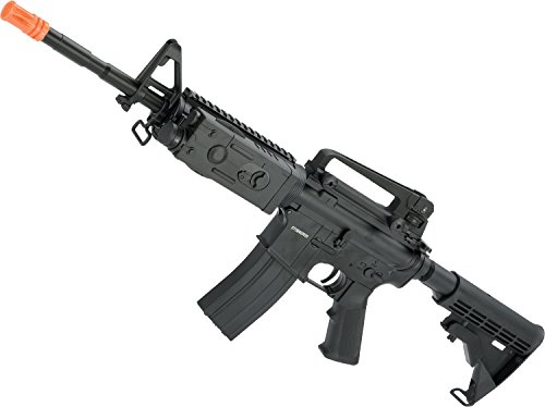 Evike - CYMA Full Metal M4 RIS Carbine Airsoft AEG Rifle w/ PEQ2 Box & Lipo Ready - Muzzle Ris