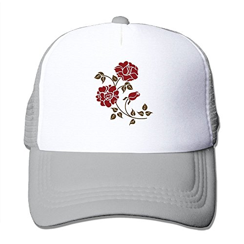 HEHE TAN Adjustable Unisex Adult Mesh Hatred Roses Baseball Cap Trucker Cap