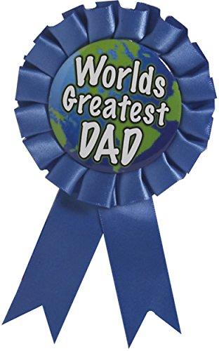 Forum Novelties 72155 Award Ribbon-World Greatest Dad, Blue