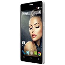 SKY Devices Platinum Series 5.0W-GSM Unlocked HSPA Plus 21Mbps 4GB Dual-Sim, 1.3GHz Quad-Core Android KitKat 4.4 Global Smartphone with 8MP Plus 2MP Cameras and 5-Inch FWVGA Display-White