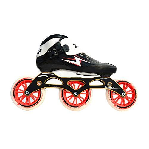 娯楽松明蓄積するailj スピードスケートシューズ90MM-110MM調整可能なインラインスケート、ストレートスケートシューズ(3色) (色 : Red, サイズ さいず : EU 43/US 10/UK 9/JP 26.5cm)