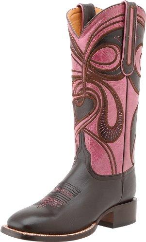 Lucchese Desde 1883 Mujeres M4831.wf Square Toe Fowler Heel Bota Espresso / Rose Hypnotic Swirl