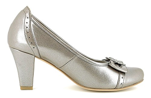 Para Vestir Zapatos Plateado Mujer De Andrea Conti nqa8xRtI