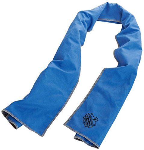 (Ergodyne Chill-Its 6602MF Evaporative Microfiber Cooling Towel, Blue)