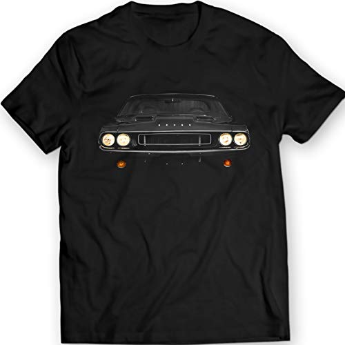 1970 Dodge Challenger Vanishing Point T-Shirt (L, Black) (1970 Dodge Challenger Rt Plum Crazy Purple)