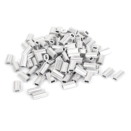 Aluminum Sleeves Fittings Crimps 100pcs