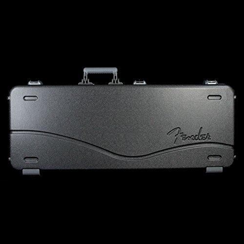 Fender Deluxe Molded ABS Strat-Tele Guitar Case Black Gray/Silver