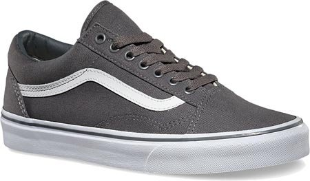 Vans Unisex Old Skool Skate Shoes (Canvas) Pewter/True White VN-01R1GF5 (6 B(M) US Women / 4.5 D(M) US Men, (Canvas) Pewter/White)