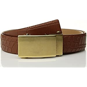 Comfort Click Men's Adjustable Perfect Fit Croc Belt with Plaque Buckle-As Seen On Tv