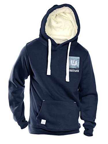 University of Whatever Campus Mens hoodie - Premium quality tops (Navy, XL)