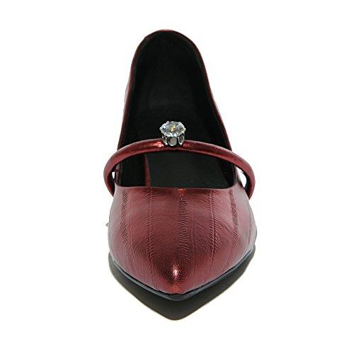 Nine SevenPump Shoes - Sandalias con cuña mujer granate