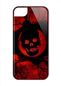 Case Fun Apple iPhone 5 / 5S Case - Vogue Version - 3D Full Wrap - Red Skull