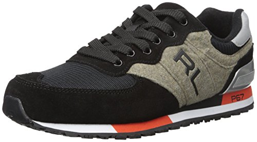 Polo Ralph Lauren Men's Slaton, Black, 10.5 D US - Polo Sport Shoes