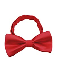 Silk Bow ties for Kids Boys - Adjustable Pre Tied Bowties for Toddler Baby