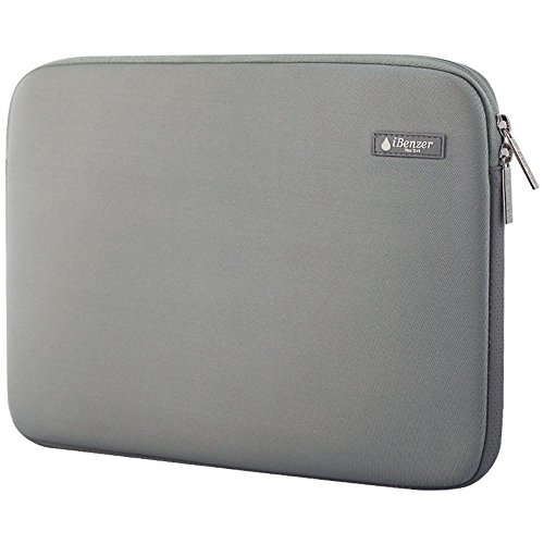 iBenzer Basic 13.3' Deluxe Neoprene Laptop Sleeve Bag Cover Case for MacBook Pro/Air/Retina 13'/iPad Pro/HP/Acer/Dell/Asus/Samsung UltraBooks, (Gray)