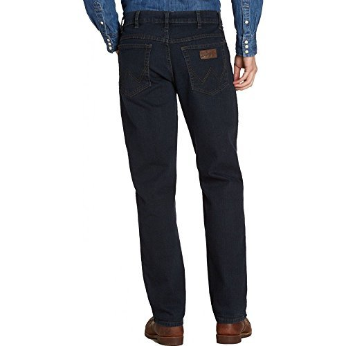 HOMMES WRANGLER TEXAS COUPE STANDARD JAMBE DROITE JEAN - DÉLAVAGE W44 - L32